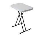 Lifetime Folding Tables 80251 White Granite 26-in Adjustable Personal Table