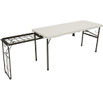 Lifetime Camping Tables 80286 5.5' Fold-in-Half Cooking Tailgate Table