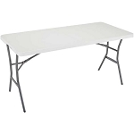 Lifetime Fold In Half Table 80335 5-Ft White Granite