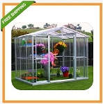 80381 DuraMax Outdoor Metal Greenhouse 8'x10'