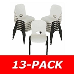 Lifetime Childrens Stacking Chairs 80385 13 Pack Almond