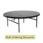 Lifetime 6' Round Table 1 Pack, 4 Pack, 12 Pack with Black Color Top