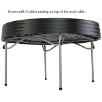 Lifetime Round Table 280461 5-Foot Stacking Table Black Top
