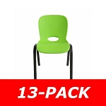 80474 Contemporary Children's Stack Chair (lime green) 13-pack