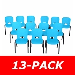 80475 Contemporary Children's Stack Chair 13-Pack (glacier blue)