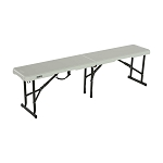 80503 5-Foot Fold-In-Half Bench (Pearl)