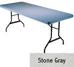 SO 8080 Lifetime (4 PACK) Accent 8 ft Stone Gray Folding Table