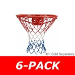 Spalding 8279s All Weather Basketball Net - Red, White, & Blue 6 Pack