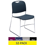 Plastic Stacking Chairs - National Public Seating 8500 Series 32 Pack