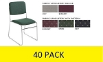 40 Lightweight Upholster Stack Chairs National Public Seating NPS 8600