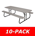 Lifetime Picnic Tables 880123 Commercial Folding Picnic Table 10 Pack