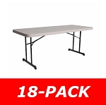 Lifetime Folding Tables - 880126 Putty Heavy-Duty 6' Table - 18 Pack