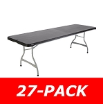 Lifetime 8 Ft Commercial Stacking Folding Table 880462 27 Pack (Black)