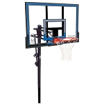 Spalding In-Ground Basketball 88349 50-in Polycarbonate Backboard Goal