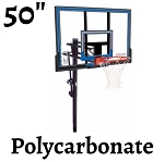 Spalding In-Ground Basketball Hoop 88349 50-in Polycarbonate Backboard