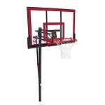 how to set up the spalding 50 inch basketball hoop