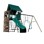 Lifetime Swing Sets Big Stuff Playset + Clubhouse 90042 Earthtone Colors