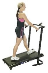 SO SlimWalk Slim Walk Manual Treadmill w Electronics