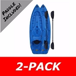 2-Pack Lifetime Lotus Adult 8 ft Kayak in Blue
