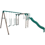 Lifetime Swing Set - 90143 Monkey Bar Playground with Slide (earthtones color)