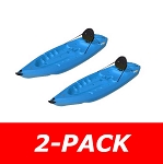 Lifetime Adult Kayaks - Blue 8-Foot Plastic Sit On Top Kayaks - 2 Pack