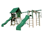 Lifetime Double Slide Deluxe Playset 90240 Earthtone Colors