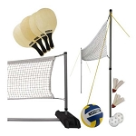 Lifetime 90541 Portable Volleyball, Pickleball, and Badminton Set