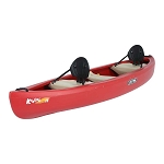 90658 Lifetime Kodiak Canoe (red, paddles)