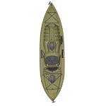 Lifetime Tamarack Angler Kayak 90818 10-Foot Olive Green With Paddle
