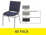 40 National Public Seating NPS 9400 Heavy-Duty Upholstered Stack Chair