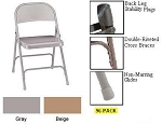 Metal Folding Chairs - National Public Seating 0050 Series