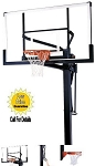 SO Mammoth Basketball Hoop 98874 72 inch Glass Backboard Goal System