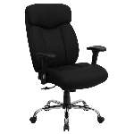 Big and Tall Office Chairs - Hercules Series Black Fabric Chairs