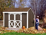 Aspen 8 ft x 12 ft Best Barns Wooden Shed Barn Kit