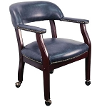 Conference Room Chairs B-Z100-NAVY-GG Navy Blue Vinyl Chair on Casters