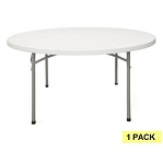 Round Folding Tables - Bt-60r 60 in Gray Granite Top
