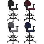 Drafting Stool on Wheels - BT-659-ARMS Office Stool With Arms