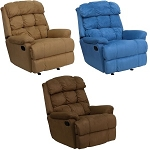 Home Furniture - BT-70016-MIC-GG Microfiber Recliner Couch