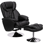 Black Leather Recliner - Flash Furniture Rocker and Ottoman Combo