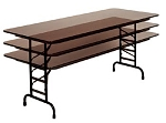 Adjustable Table Correll CFA2448M 4 Foot 24x48 Melamine Folding Table