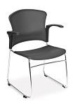Ofm 310-Pa Multiuse Plastic With Arms Stacking Stacker Chair (4 Pack)