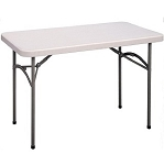 Correll Folding Tables Gray Blow-Molded Plastic Table CP2448 24x48 in