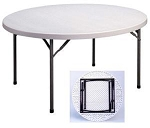 Correll CP72  Round Tables - Gray 71 inch Diameter Folding Table