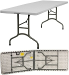 Bi-Fold Banquet Tables - Granite White Folding Tables - 15 Pack