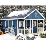 Fairview w/Porch 12x16 ft Best Barns Wood Shed Barn Kit
