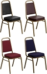 Stacking Chairs - Hercules Fabric and Vinyl Stack Chairs - 40 Pack