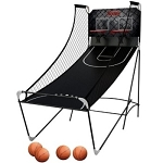 M01481W Harvard Indoor Game Double Shot Arcade Basketball Hoop