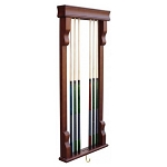 Antique Walnut Color Wall Mounted Cue Rack NG2571W