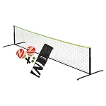 Zume Games OD0014W Pickelball Set Paddles, Net, Balls