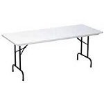 R2448 Correll Folding Tables - Standard Height - 4-Foot Plastic Table